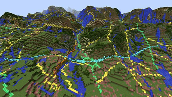 Ordnance Survey data handles the surface of Minecraft Great Britain.