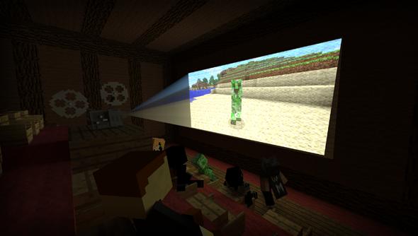 Test shots of the Minecraft movie.
