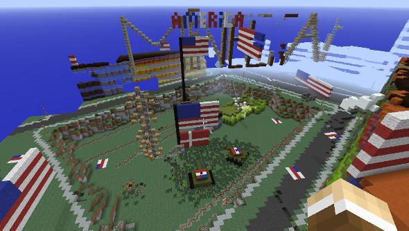 Minecraft Denmark destroyed