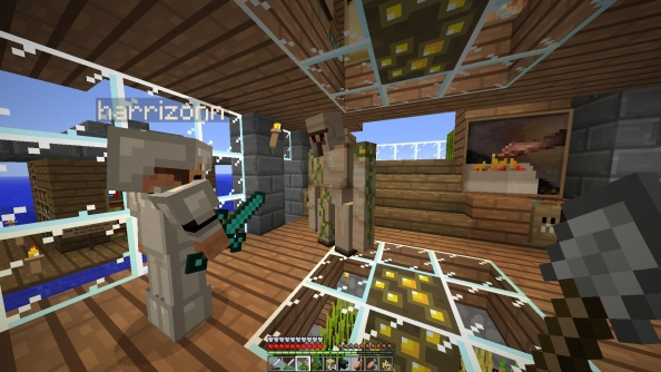 Minecraft for LAN support lets you share single player games over a network