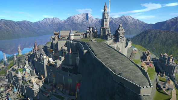 Minas Tirith Planet Coaster creations