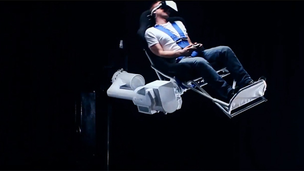 Somebody has invented a horrifying 360-degree virtual reality chair