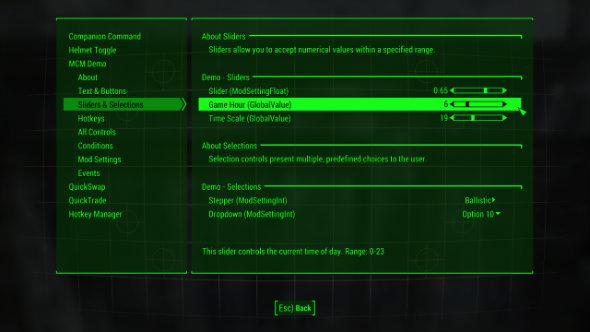 fallout 4 mods mod configuration menu