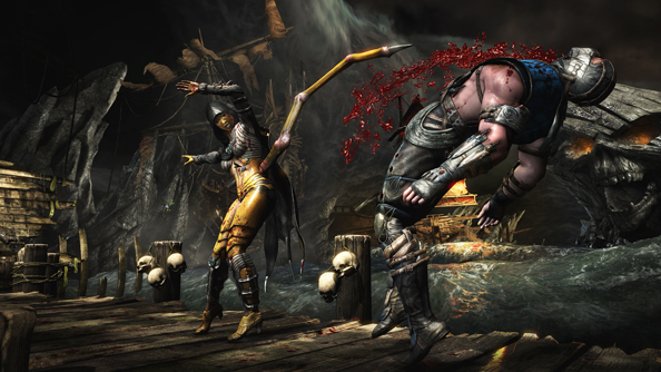 Metal maketh the man: watch Mortal Kombat X's Kano do irrecoverable damage