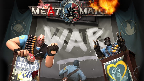 Team Fortress 2 asks you to choose between Heavy and Pyro in Meat vs Match WAR! update