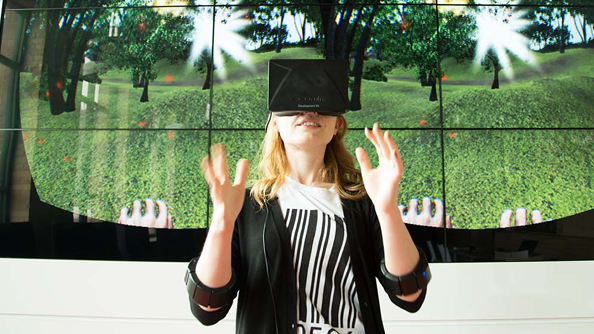 Myo wristbands let you use your hands with the Oculus Rift