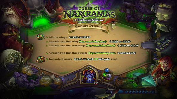Hearthstone's Curse of Naxxramas won't cost you your soul