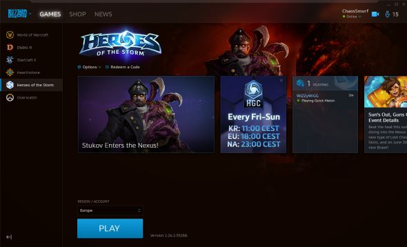 New Battle.net Layout