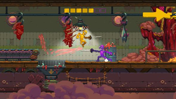 Nidhogg 2 is a more violent, more colourful successor to the indie duelling game