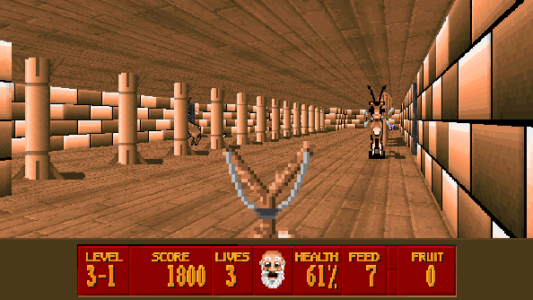 Super 3D Noah's Ark might be the best Christian game built on the Wolfenstein 3D engine