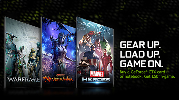 Nvidia offering £50 of in-game content for Warframe, Neverwinter, and Marvel Heroes