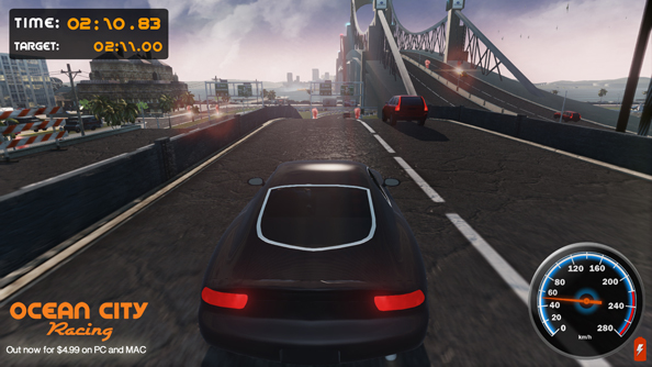 Ocean City Racing is an open world driving game made by three men