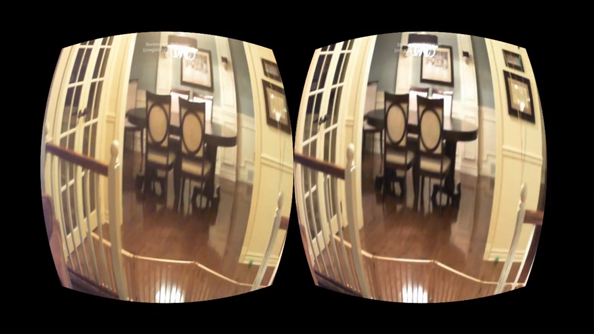 Oculus Rift fitted with cameras to turn it into an augmented reality headset