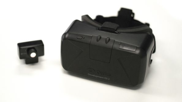 The Oculus dev kit MKII: currently the closest thing to a consumer Rift available to buy.
