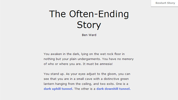 The Often-Ending Story is a trope-addled choose your own adventure