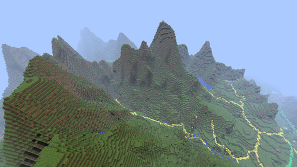 Ordnance survey recreate great britain in largest minecraft world snowdonia as seen from the air in minecraft gumiabroncs Gallery