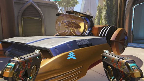 Doomfist's glove on Numbani