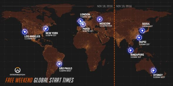 Overwatch free trial start times