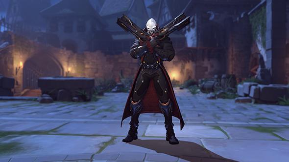 """overwatch halloween 2017 reaper dracula skin"""