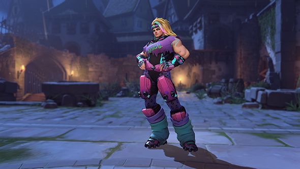 overwatch halloween 2017 zarya totally 80s skin