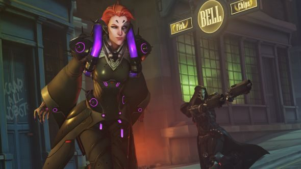 the story of overwatch s moira and how she got the naruto run pcgamesn