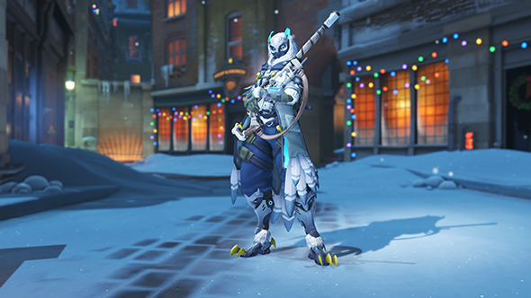 overwatch winter wonderland 2017 skins ana snow owl