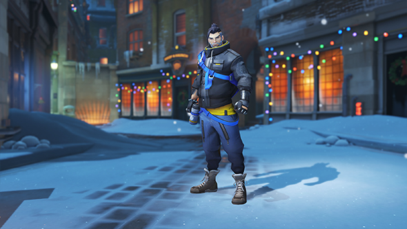 overwatch winter wonderland 2017 skins hanzo casual