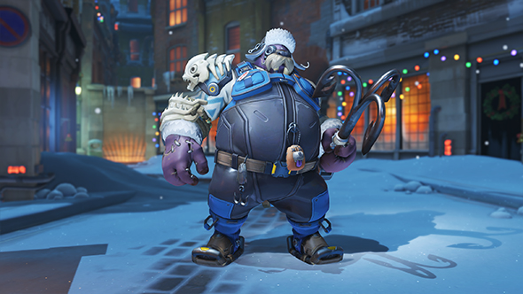 overwatch winter wonderland 2017 skins roadhog ice fisherman