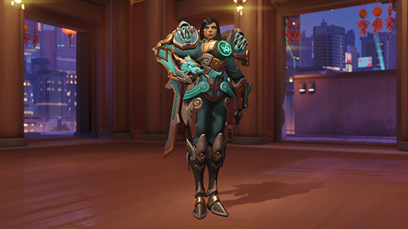overwatch year of the dog legendary skins pharah qinglong