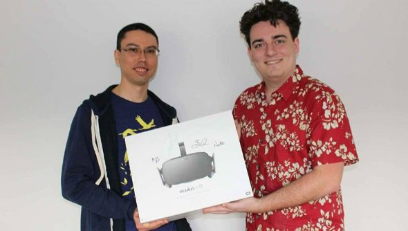 Palmer Luckey hand delivers Oculus Rift