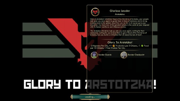 Papers, Please modded into Civilization V. All hail the Glorious Leader