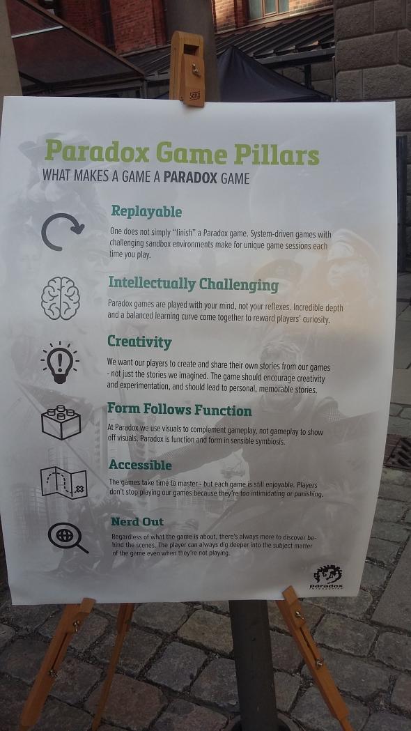 Paradox game pillars