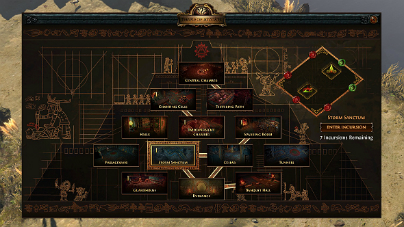 path of exile temple map