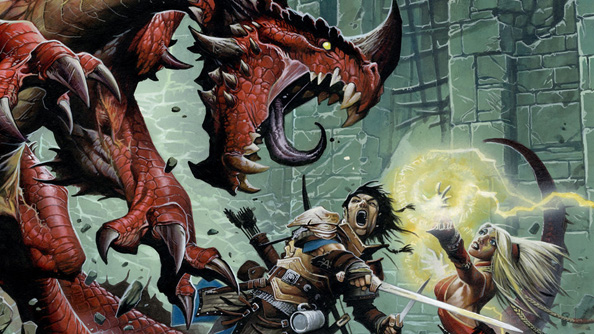 Pathfinder: a dragon, most likely situated in its own dungeon.