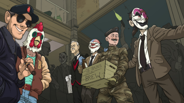 You can now customise your PAYDAY 2 safehouse while John Cleese cleans up after you