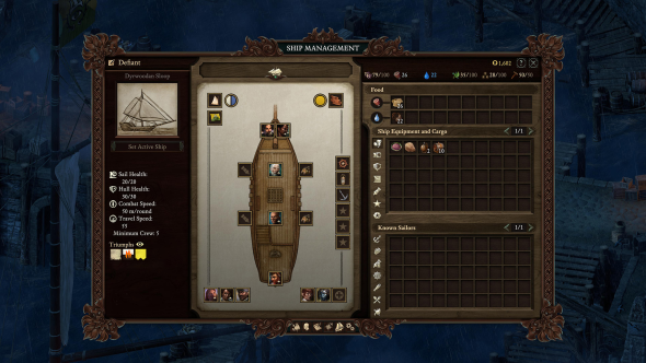 Pillars of Eternity 2 ship management