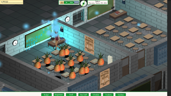 No Pineapple Left Behind uses fruit and magic in a parody of the US education system