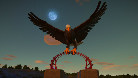 bald eagle entrance planet coaster