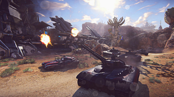 PlanetSide 2 in-game adverts went a bit wonky yesterday, so SOE has sent them to the ER