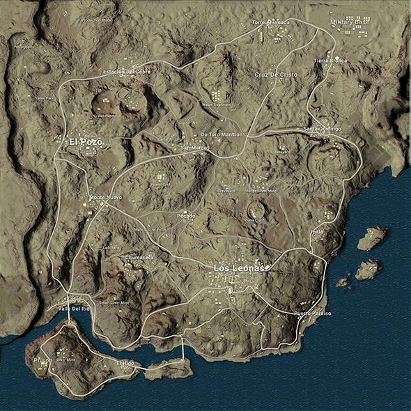 playerunknowns battlegrouds desert map valle coronado