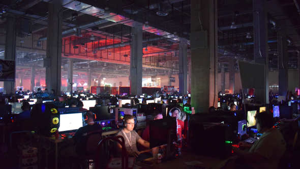 QuakeCon BYOC area