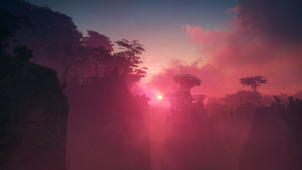 The sun sets pink in Rage 2