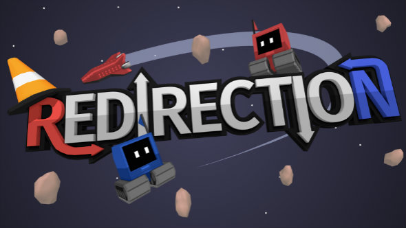 Redirection is a space-based puzzle game about guiding lost robots home