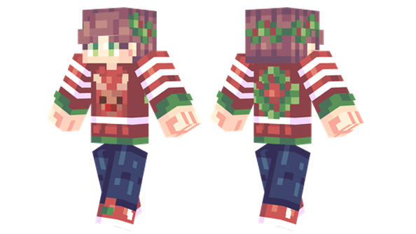 reindeer sweater minecraft skin