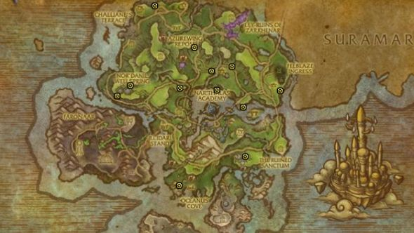 Reins of the Lost Hippogryph map