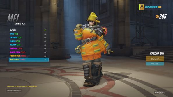 Rescue Mei skin