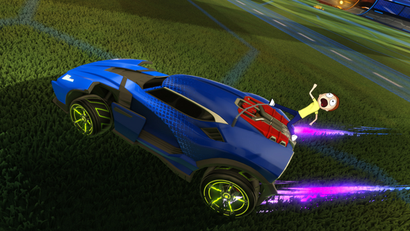 Rick and Morty are invading Rocket League