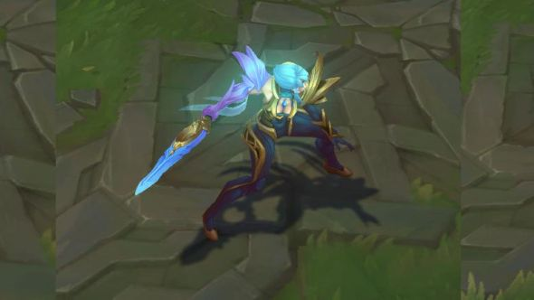 Riven Dawnbringer in-game