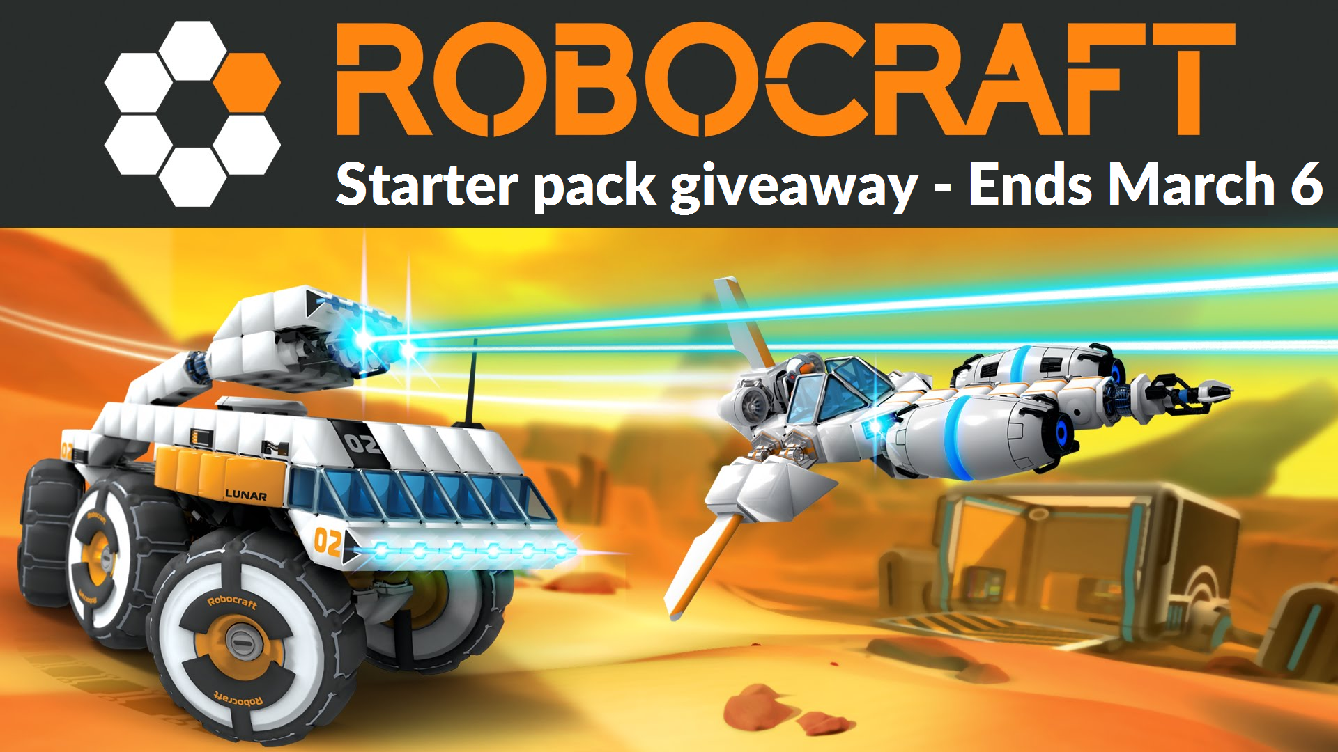 Robocraft giveaway! Win one of 10,000 starter packs for this mech building game!