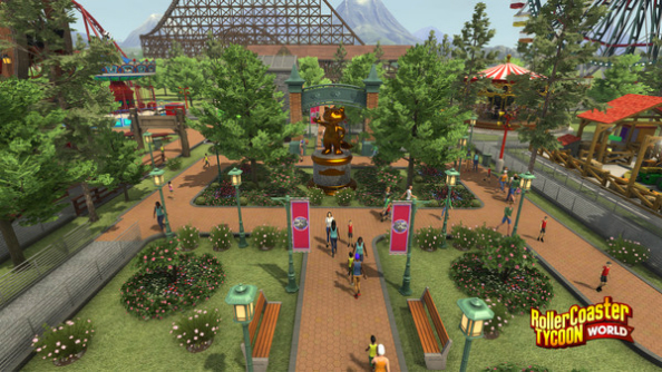RollerCoaster Tycoon World corkscrews onto Steam Early Access March 30th